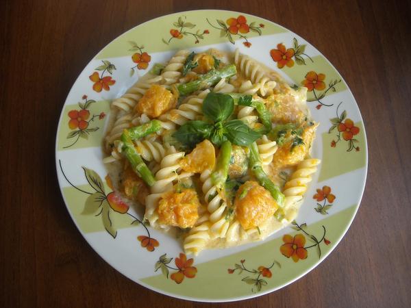 Ricetta pasta con la zucca vegetariana
