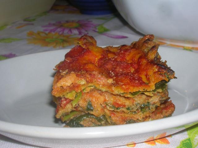 parmigiana di borragine nel piatto p