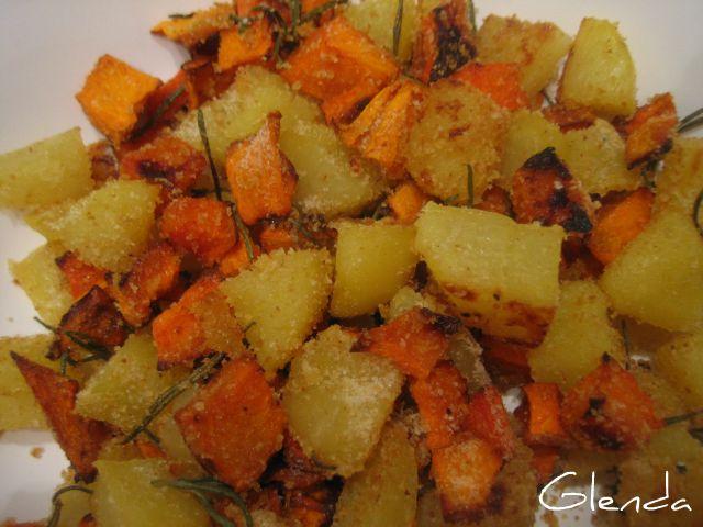 Ricetta Zucca E Patate Al Forno.Patate E Zucca Al Forno Veganblog Ricette E Prodotti Dal Mondo Vegan