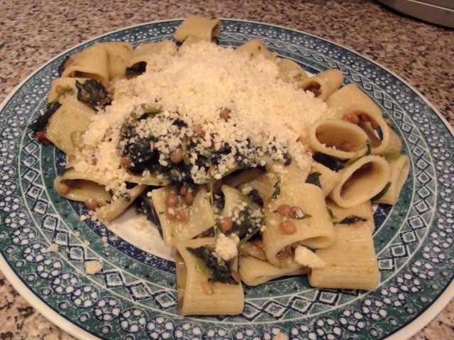 pasta con spinaci e lenticchie | vegan blog - ricette vegan ... - Cucinare Pasta E Lenticchie