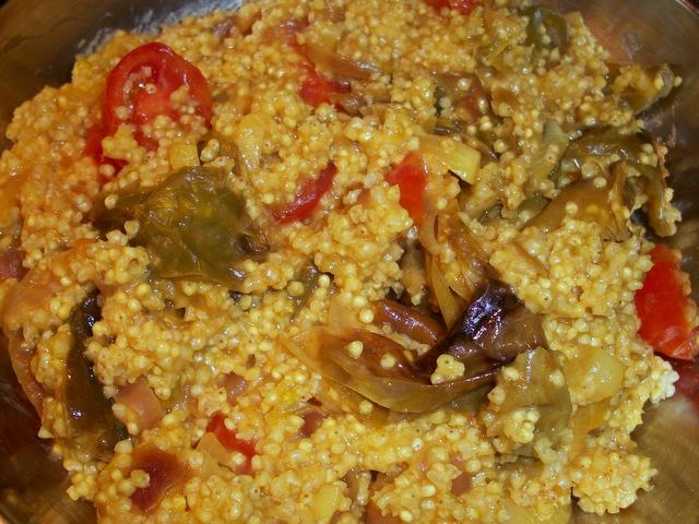 Miglio con friggitelli vegan blog ricette vegane for Cucinare miglio