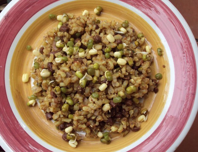 Insalata di riso con azuki vegan blog ricette vegane cruelty free - Cucinare riso integrale ...