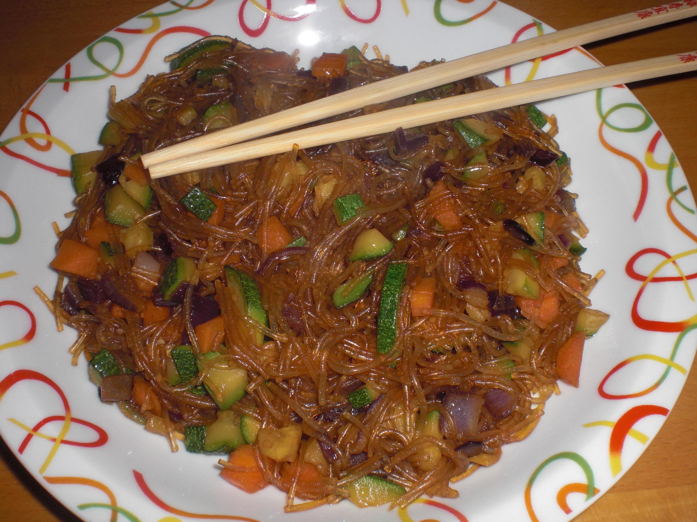 Spaghetti di soya con verdure vegan blog ricette for Ricette cucina cinese