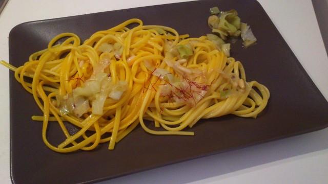Linguine porro e zafferano - Vegan blog - Ricette Vegane - Cruelty Free