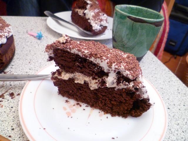 Dettaglio torta ciocco-mandorle