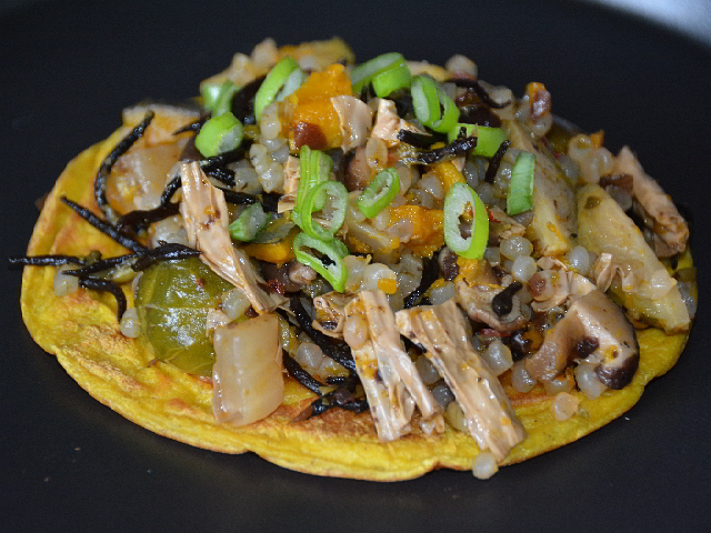 Okonomiyaki proteico e vegano