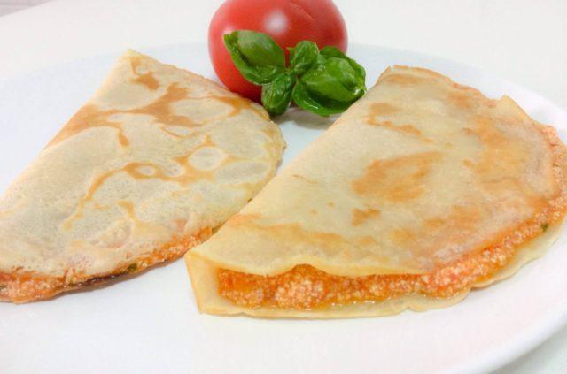Crêpes tofu e pomodoro