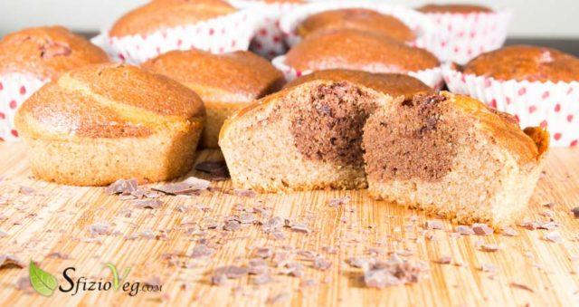 Banana muffin al cacao